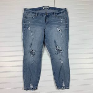 Torrid Distressed Jeans Capris Womens 14 Short